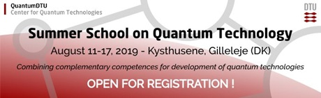 Summer School on Quantum Technology 2019 - QuantumDTU
